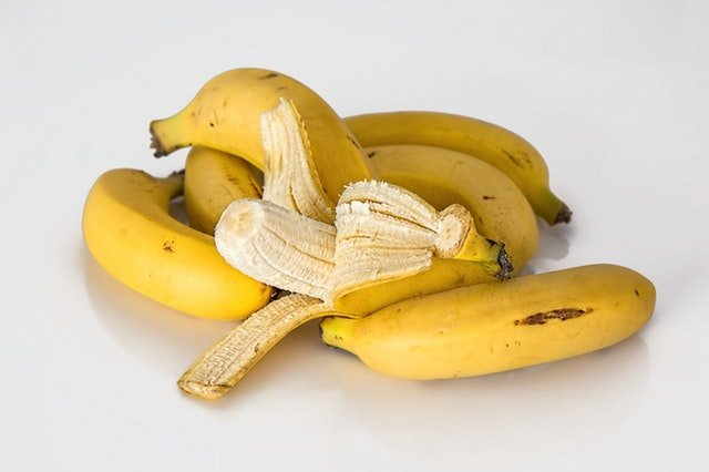A bunch of yellow bananas ready and ripe