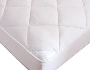 A soft to touch but firm cotton mattress topper
