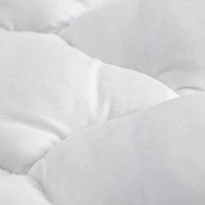 A plush gusset feather mattress topper