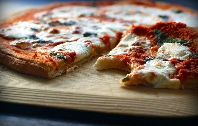 A Cheesy Margherita Pizza