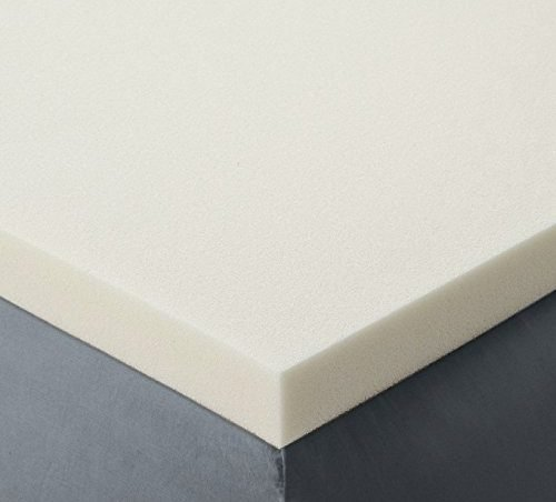 memory foam topper on top of a firm mattress base