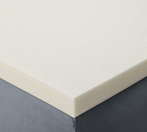 memory foam topper on top of a firm mattress base