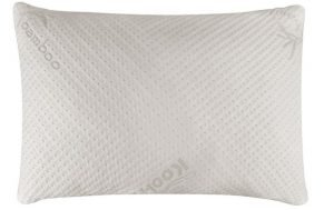 Stomach Sleeper White Pillow made with Bamboo Memory Foam