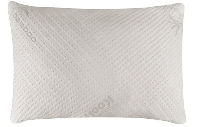 Side Sleeper While Pillow made with Bamboo Memory Foam