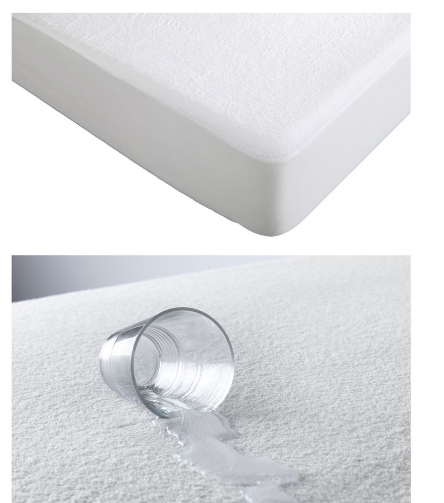 Glass spilling on mattress topper and not staining the mattress