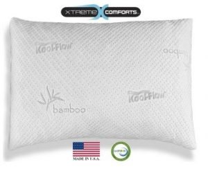 A Memory Foam Pillow with Bamboo Cover Pillow Case