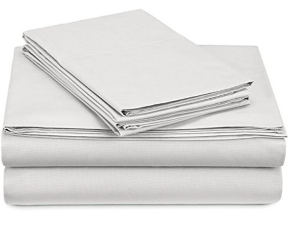 Cotton Cooling White Percale Sheet Set