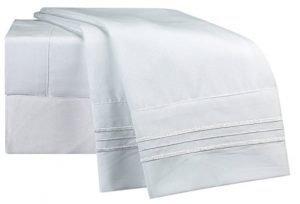 White crisp cooling bedsheet
