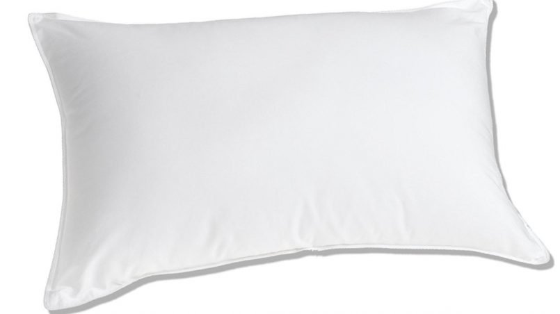 Luxurious white goose down medium firm pillow