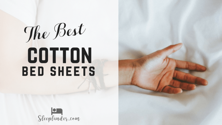 Man sleeping on white 100% organic cotton sheets that are plush and soft.