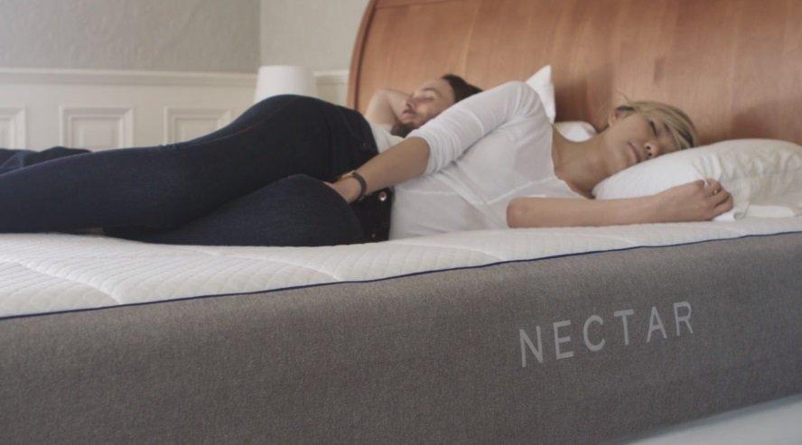 Couple Sleeping on the Nectar Mattress
