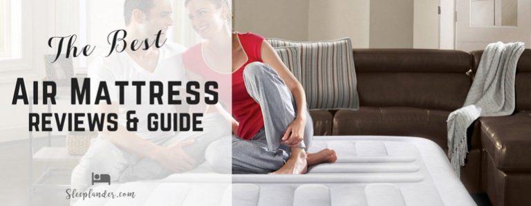 A couple lounging on an air mattress