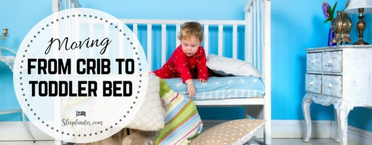 Toddler playing in a Toddler Bed