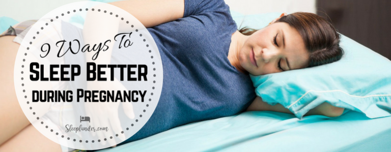 Pregnant woman sleeping during bedtime