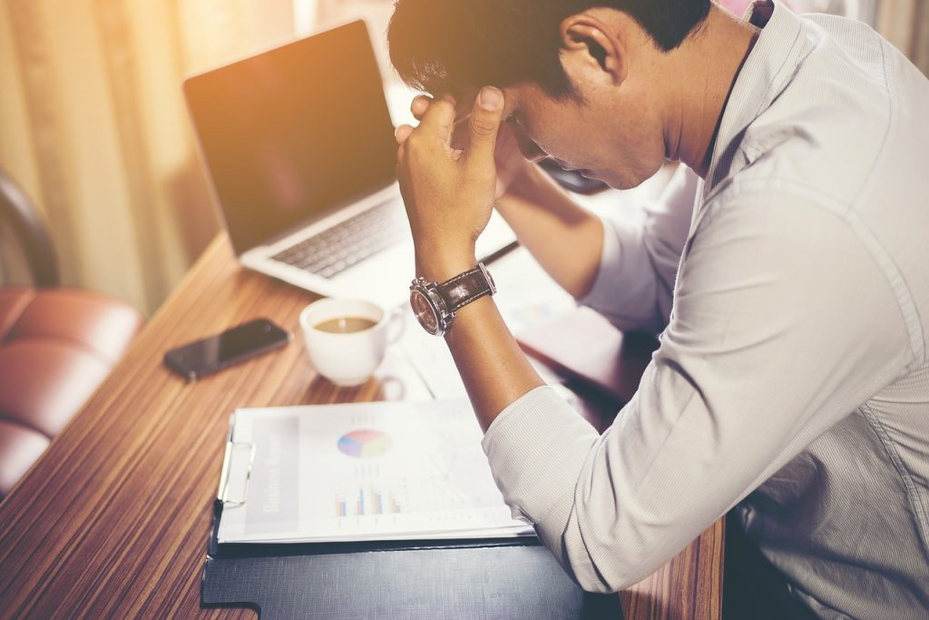 man late 30s stressed at work insomnia sleep apnea problems