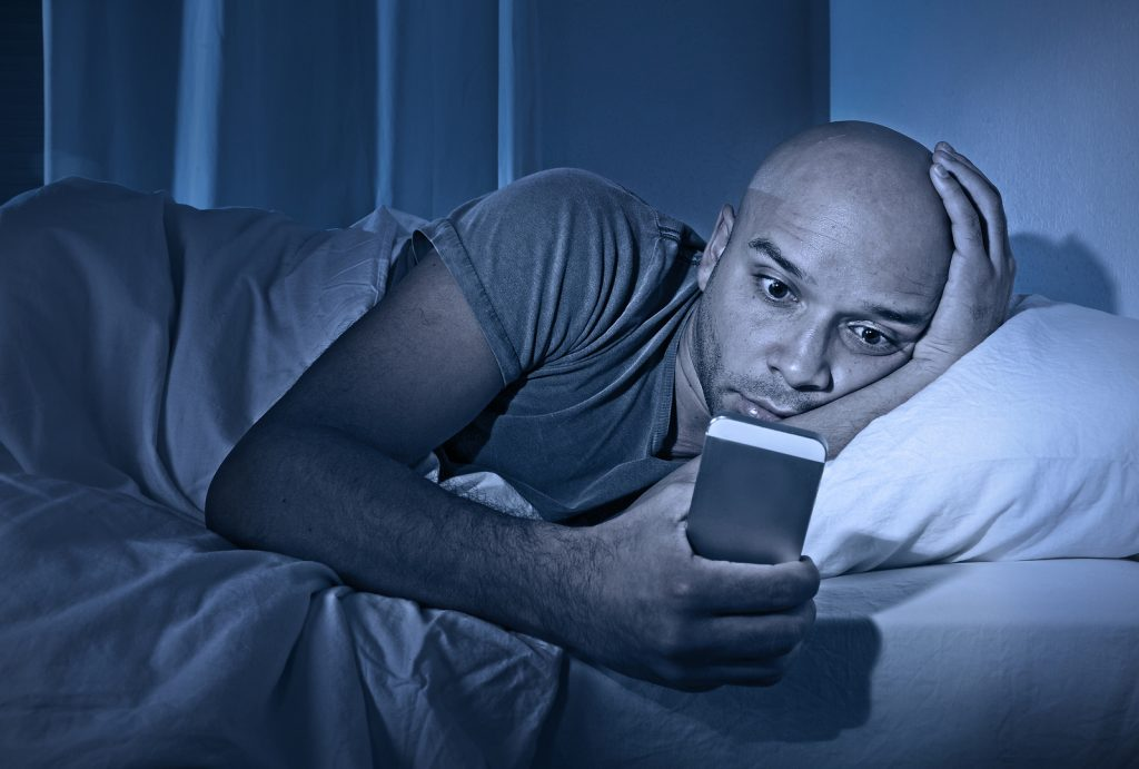 Phone addiction can lead to insomnia