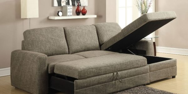 Right facing chaise lounge with storage function