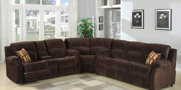 Tracey Sleeper Set Includes: Sofa bed, corner wedge, reclining loveseat with console