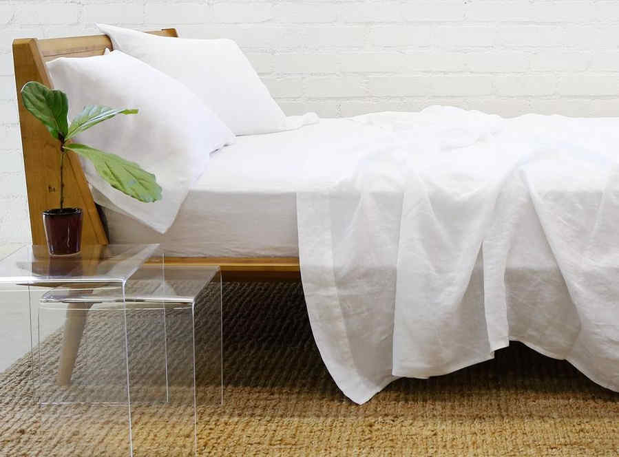 Beautiful white linen beddings