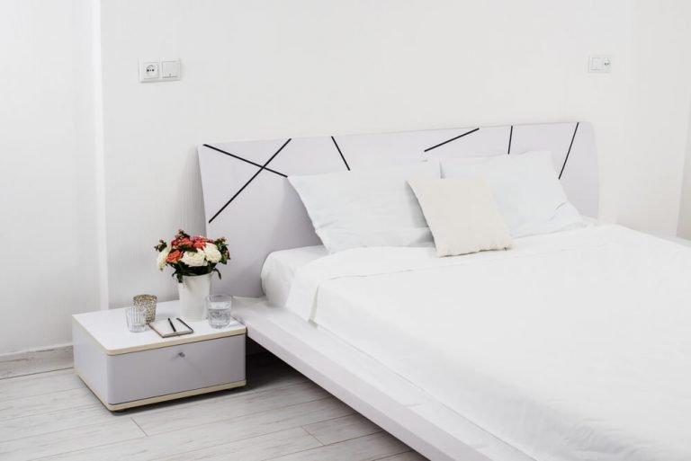 Wrinkle Free Bed Linen White Bedroom Decor Minimalist