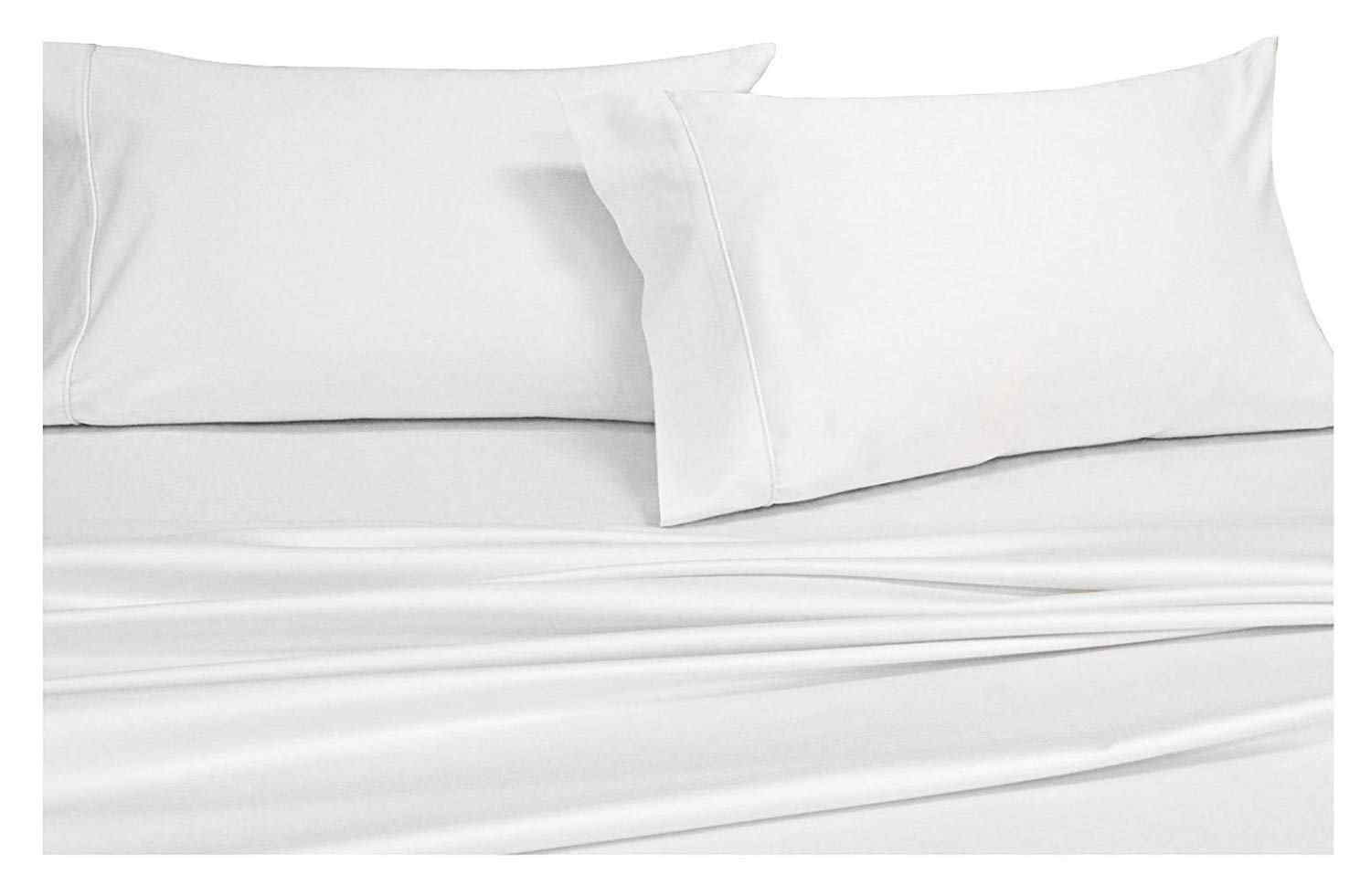 Solid White 1000-Thread-Count 100% Cotton Sheets