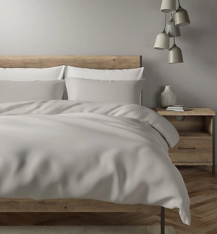 Smooth solid white microfiber sheets set