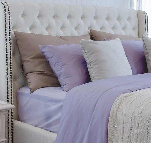 Amethyst colored bamboo bed linen set