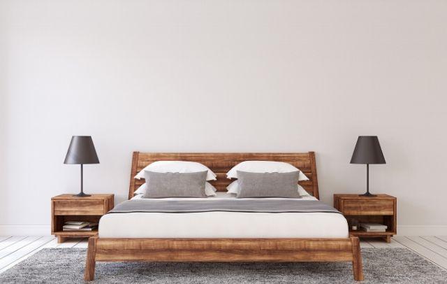 A decluttered bedroom is sleep inducing