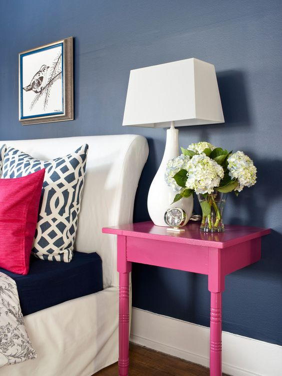 Upcycle bold and chick nightstand in hot pink