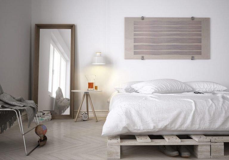 White pallet bedroom