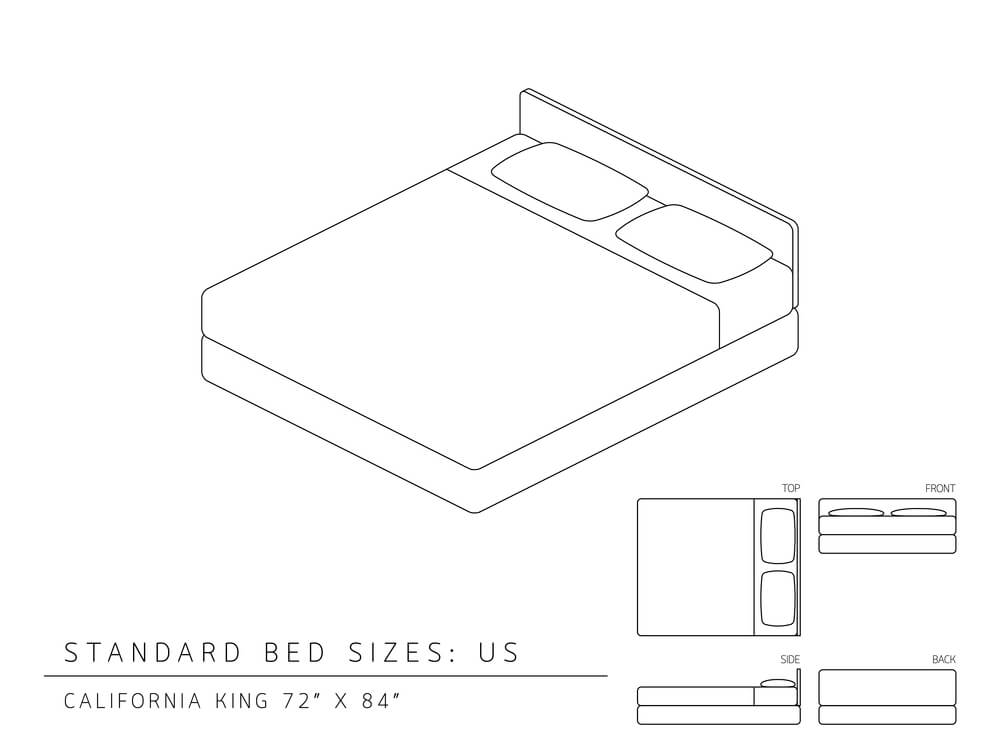 What are the dimensions of a California King-Size Bed?