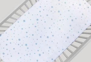 Stardust crib sheets collection from Newton Baby
