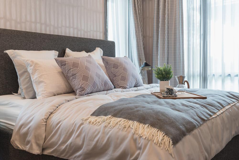 A king size bed showing pillow arrangement bedroom decor