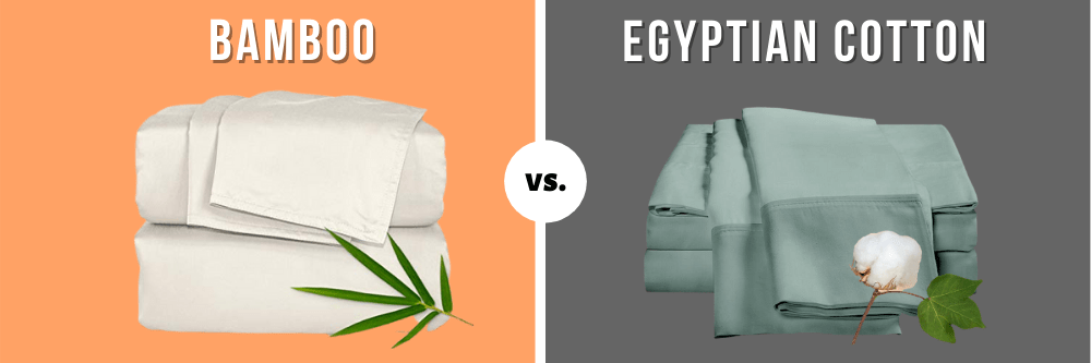 Differences between bamboo sheets and Egyptian Cotton Sheets