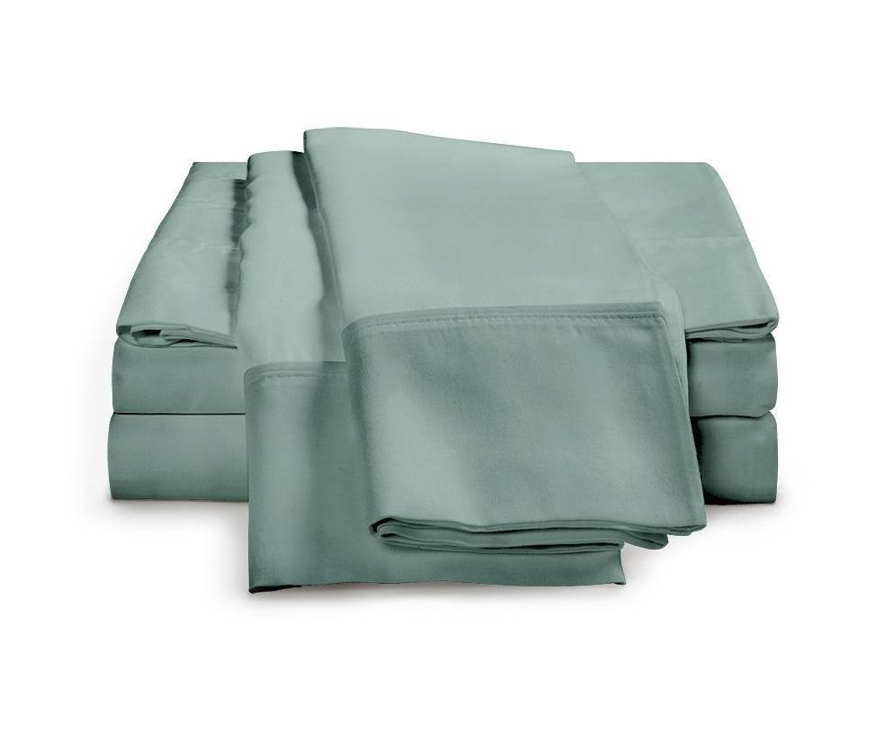 Teal colored Egyptian cotton sheet set
