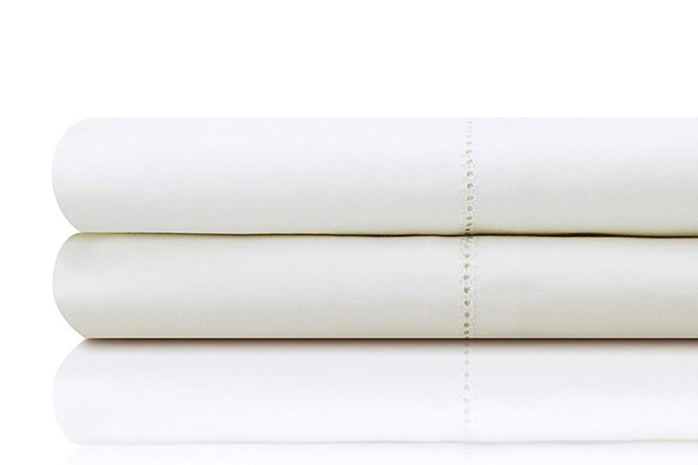 White and ivory premium 400 thread count Egyptian cotton sheet set