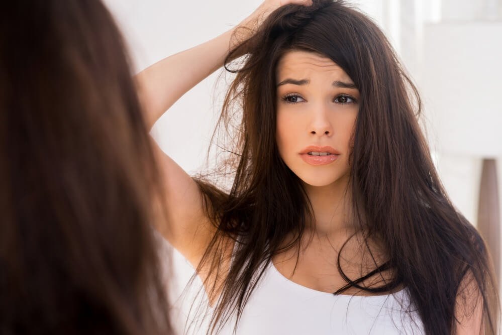 Waking up with tangled hair and fatigued